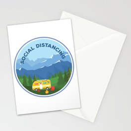 RV, Trailer, Camping Design - Social Distancing Stationery Cards