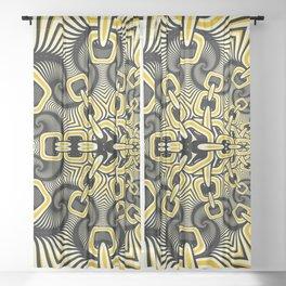 Retro Chains Fractal Sheer Curtain