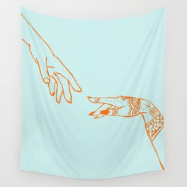 Henna hands Wall Tapestry