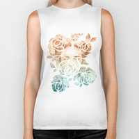 frida Biker Tanks featuring Frida  by Aivé Trujillo