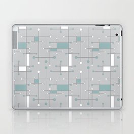 Intersecting Lines in Gray, Sea Foam and White Laptop & iPad Skin