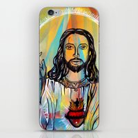 jesus iPhone & iPod Skins featuring Jesus by Lina Caro Design