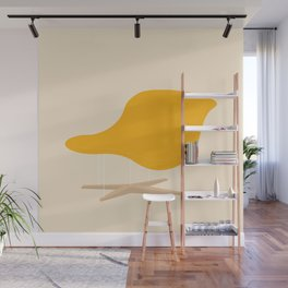Yellow La Chaise Chair by Charles & Ray Eames Wall Mural