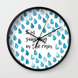 Siiinging in the Rain Wall Clock