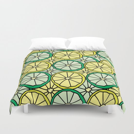 lime vs lemon Duvet Cover