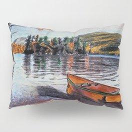 'Dome Island' Lake George Original Art Drawing - Canoe - Lake Wall Art Decor Pillow Sham