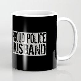 Police: Proud Husband (Thin Blue Line) Coffee Mug
