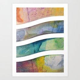 Rainbow Wave Art Print
