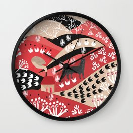 Wolf's Promise Land Wall Clock