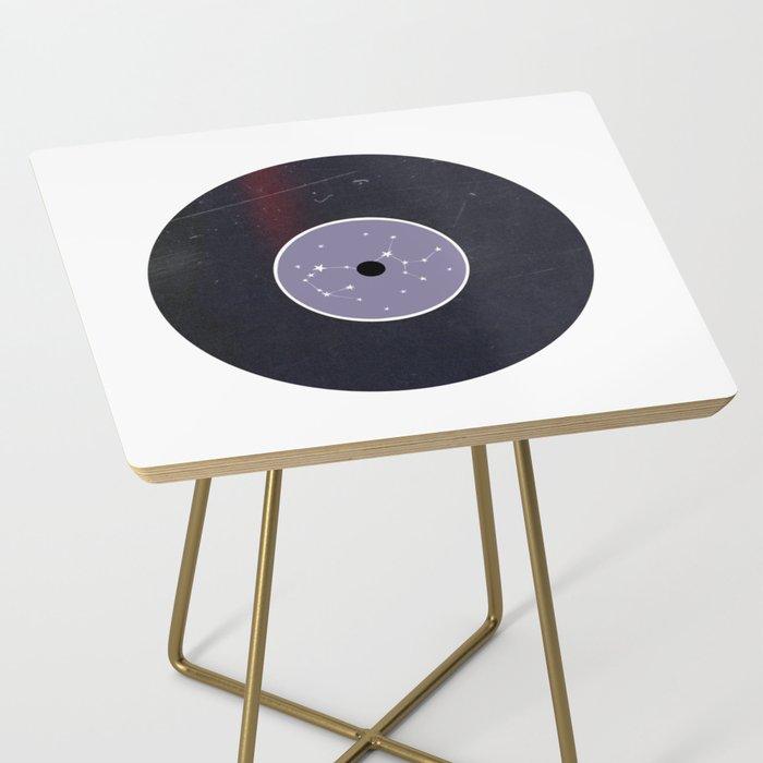 Vinyl Record Star Sign Art | Sagittarius Side Table
