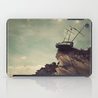 pirate ship iPad Cases featuring Pirate Ship Tall Ship - The Edge of the World by The Lonely Pixel