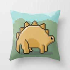 Pixel Dino! Throw Pillow