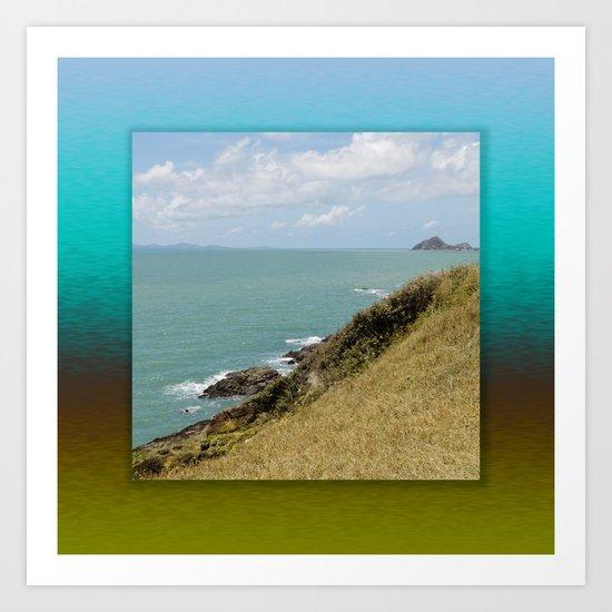 Idyllic Ocean View Art Print