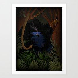 heart of darkness  -  Joseph Conrad Art Print