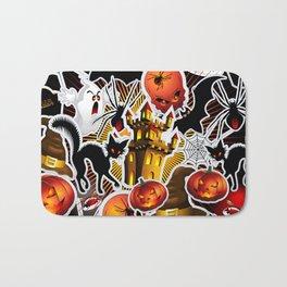 Halloween Spooky Cartoon Saga Bath Mat