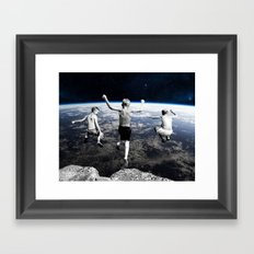 Free Faling Framed Art Print