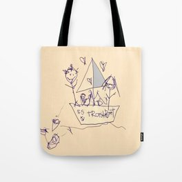 S.S. Trash Boat Tote Bag