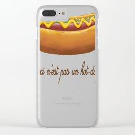 Ceci n'est pas un hot-dog Clear iPhone Case