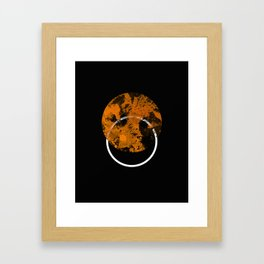 Collusion - Abstract in black, gold and white Framed Art Print