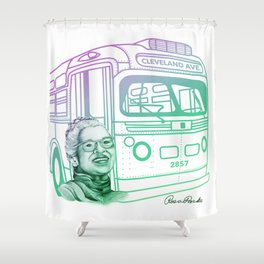 Rosa Parks, Courageous Woman Shower Curtain