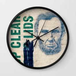 Mister Clear Lid Wall Clock