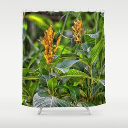 Yellow flower in the rain forest Shower Curtain