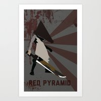 silent hill Art Prints featuring Pyramid Head - Silent Hill by BatSpats