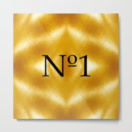 Number One, the winner, the gold medal! Metal Print