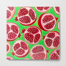 Pomegranate pattern design Metal Print