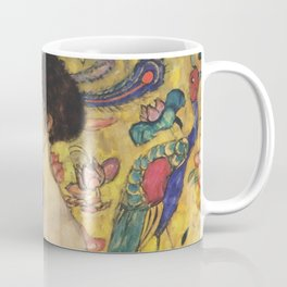 Gustav Klimt Lady With Fan  Art Nouveau Painting Coffee Mug