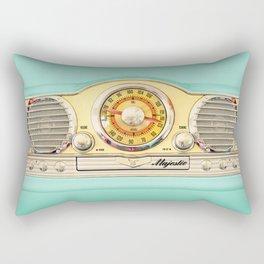 Retro old classic vintage blue teal Majestic radio iphone case Rectangular Pillow