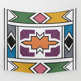 African Tribal Pattern No. 139 Wall Tapestry