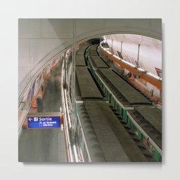 Paris Saint Michel Metro  Metal Print
