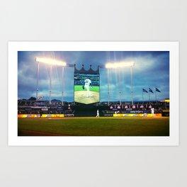 Kauffman Stadium in Kansas City, MO Art Print