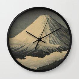 Shotei Takahashi Four Seasons of Mount Fuji Near Omuro Kawase Hasui Japanese Woodblock Print Wall Clock