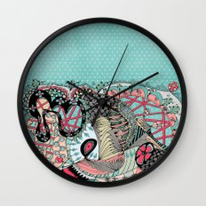 The eye looking flower Wall Clock