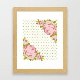 Peonies & Polka Dots Framed Art Print