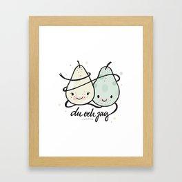 Du & jag Framed Art Print