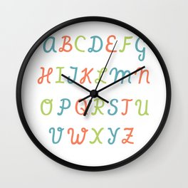 ABC...RGB... Wall Clock