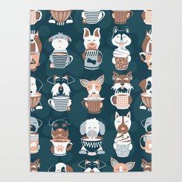 Doggie Coffee and Tea Time II Poster
