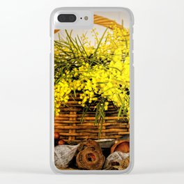 Golden Wattle Clear iPhone Case