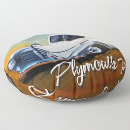 Plymouth Rocks Floor Pillow