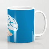 volleyball Mugs featuring Beach Volleyball by Erik Sandi Satresa