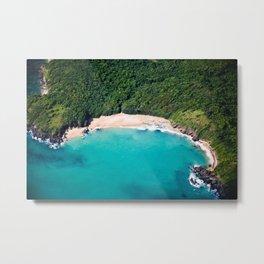 Turquoise Beach Metal Print