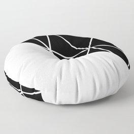 GEOMETRIC PATTERN (BLACK-WHITE) Floor Pillow