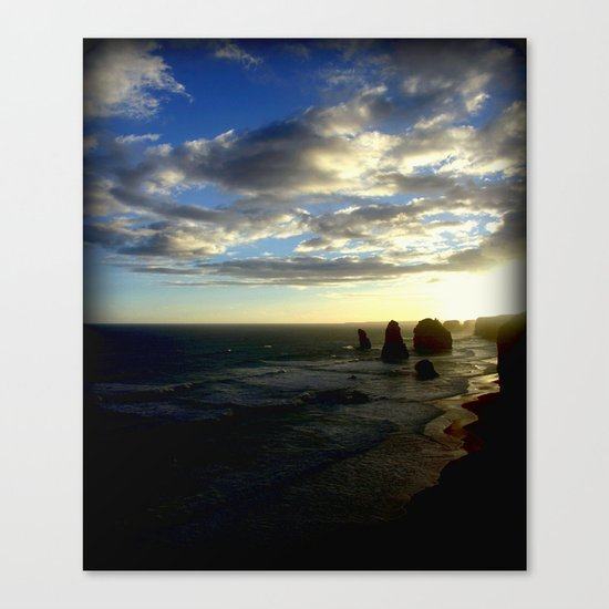 Clouds circling the Twelve Apostles Canvas Print