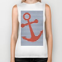 sailor Biker Tanks featuring sailor by zakumy