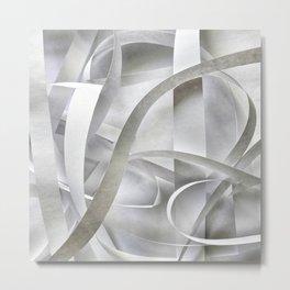 Paper pattern Metal Print