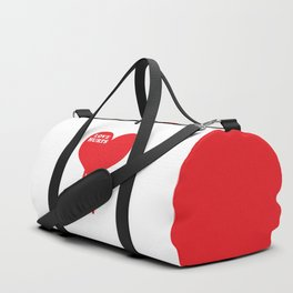 Love Hurts Quote Duffle Bag