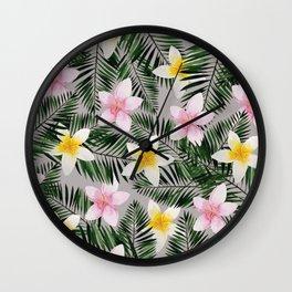 Leave Me Aloha in Grey Wall Clock